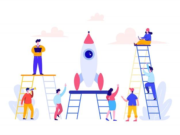 Conceito de desenvolvimento de carreira para landing page, interface do usuário, web, homepage