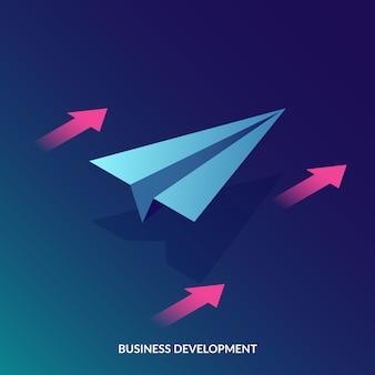 Conceito de desenvolvimento de negócios isométrico