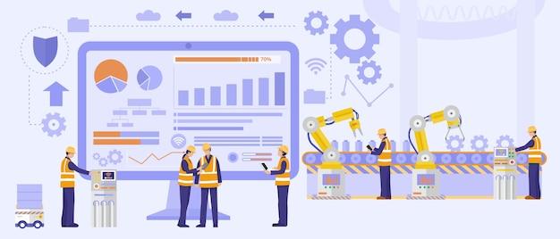 Conceito de desenvolvimento de software, engenheiros de software trabalhando no projeto.