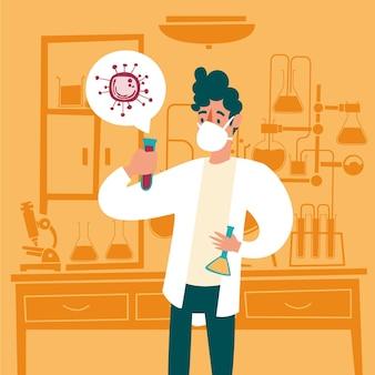 Conceito de desenvolvimento de vacina contra coronavírus