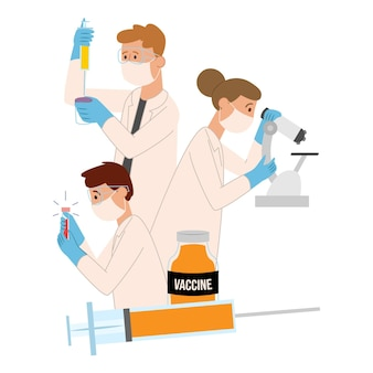 Conceito de desenvolvimento de vacina