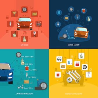 Conceito de design auto service