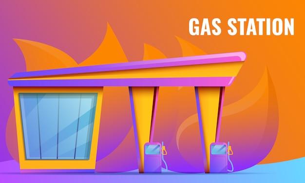 Conceito de design com posto de gasolina