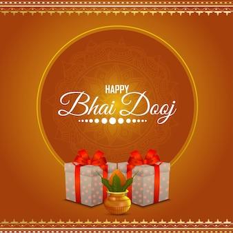 Conceito de design criativo de happy bhai dooj