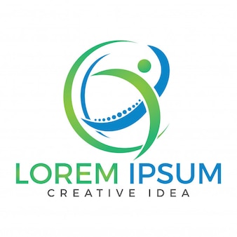 Conceito de design criativo medical chiropractic logo
