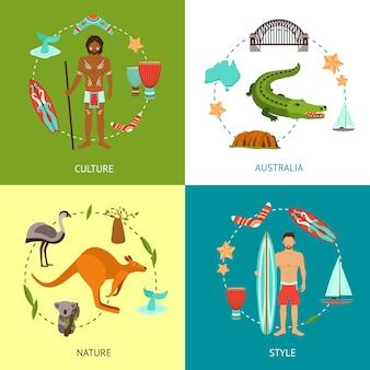 Conceito de design da austrália