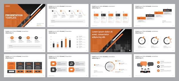 Conceito de design de apresentação de relatório de negócios