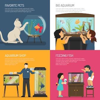 Conceito de design de aquário