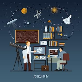Conceito de design de astronomia