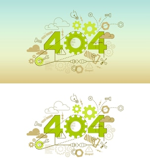 Conceito de design de banner de site 404