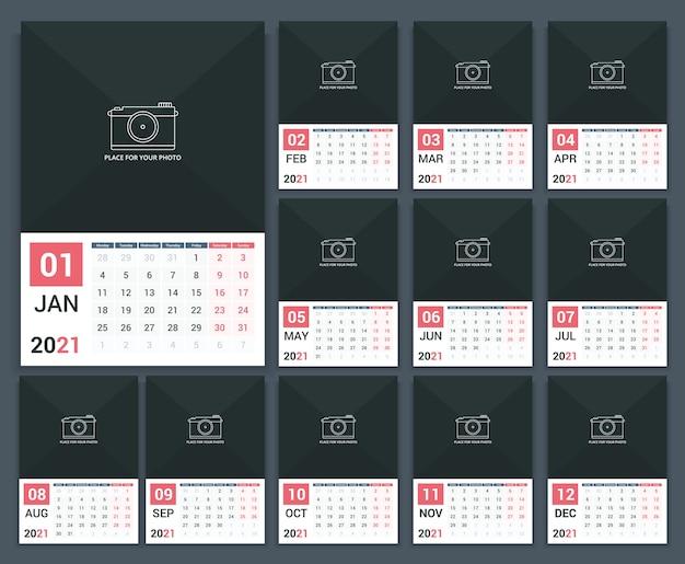 Conceito de design de calendário anual