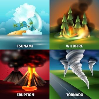 Conceito de design de catástrofes naturais