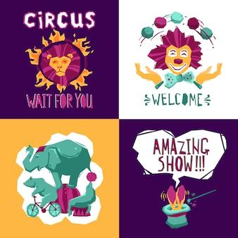 Conceito de design de circo