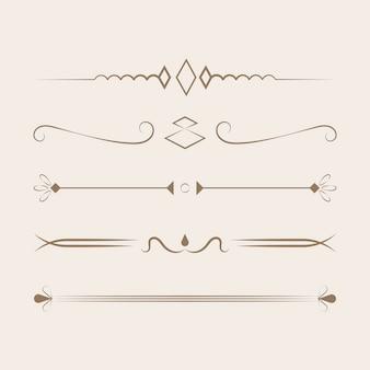 Conceito de design de coleção de ornamentos