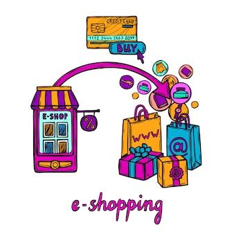 Conceito de design de comércio eletrônico