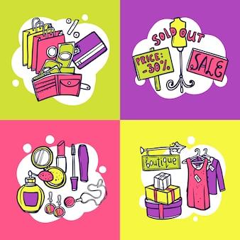 Conceito de design de compras