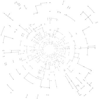 Conceito de design de conexão abstrata