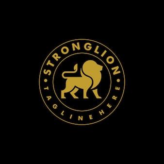 Conceito de design de cor de leão forte