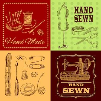 Conceito de design de costura