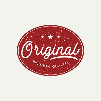 Conceito de design de etiqueta de crachá original