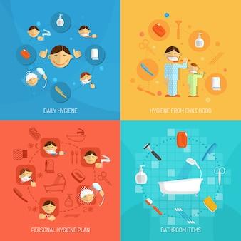 Conceito de design de higiene