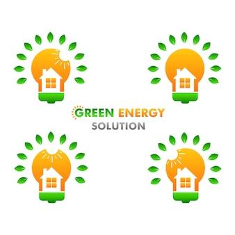 Conceito de design de ilustração de energia renovável e limpa de energia verde em fundo branco