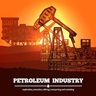 Conceito de design de indústria de petróleo
