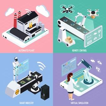Conceito de design de indústria inteligente