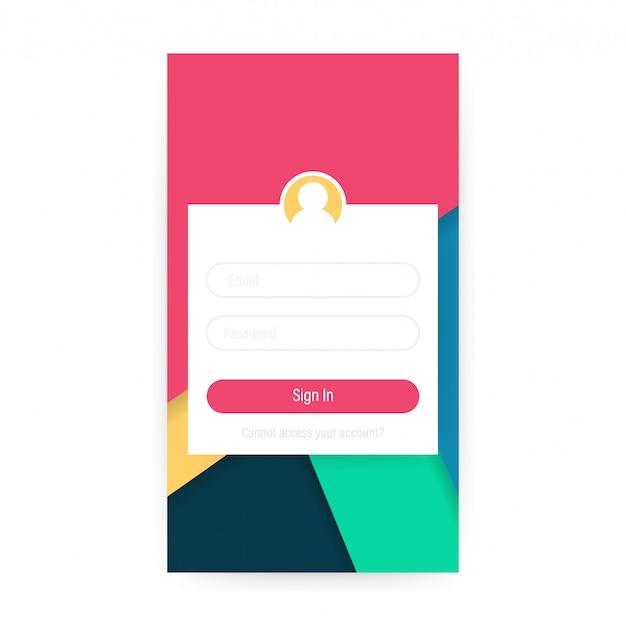 Conceito de design de interface de usuário móvel limpo
