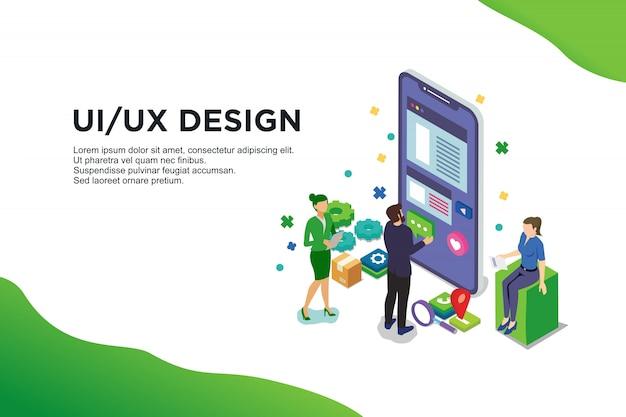 Conceito de design de interface do usuário com caráter