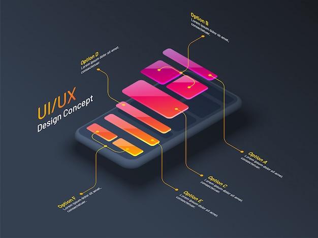 Conceito de design de interface do usuário ou ux