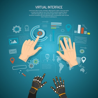 Conceito de design de interface virtual