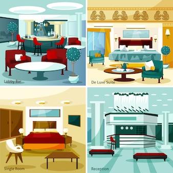 Conceito de design de interiores do hotel