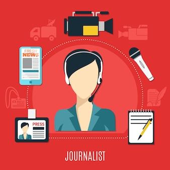 Conceito de design de jornalista