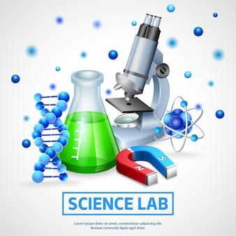 Conceito de design de laboratório científico