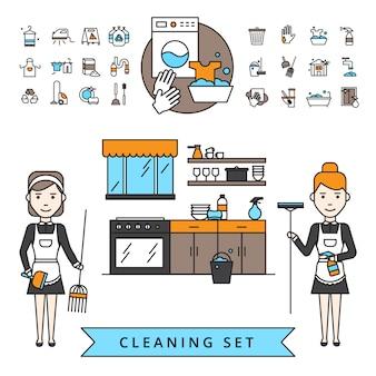 Conceito de design de limpeza