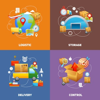 Conceito de design de logística