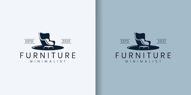 Conceito de design de logotipo abstrato de móveis
