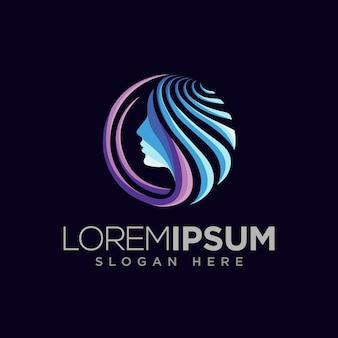 Conceito de design de logotipo cosmético moderno