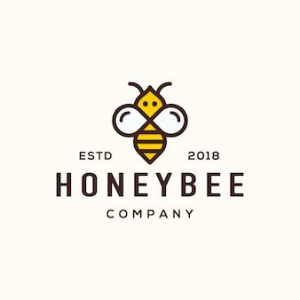 Conceito de design de logotipo de abelha.
