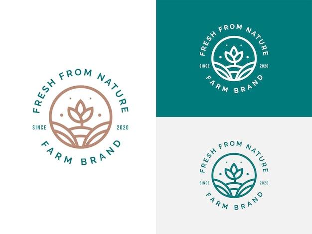 Conceito de design de logotipo de agricultura e fazenda