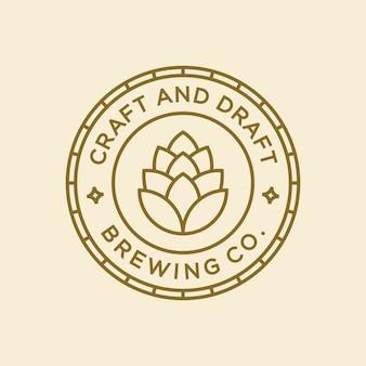 Conceito de design de logotipo de cerveja