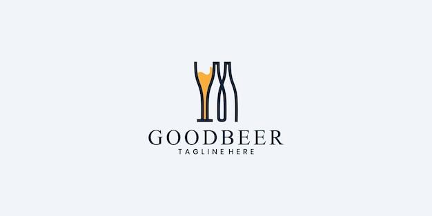 Conceito de design de logotipo de cervejaria. projeto de cervejaria universal
