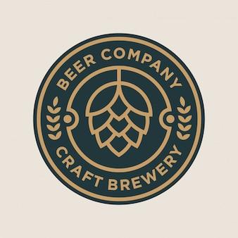 Conceito de design de logotipo de cervejaria
