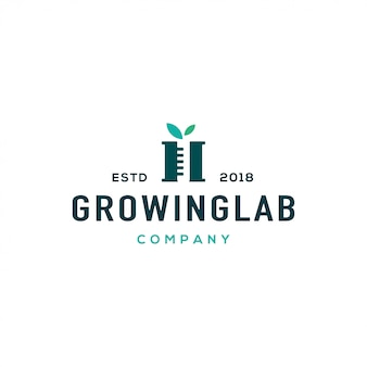 Conceito de design de logotipo de laboratório. logotipo do laboratório universal.