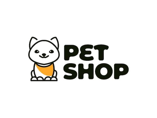 Conceito de design de logotipo de loja de animais