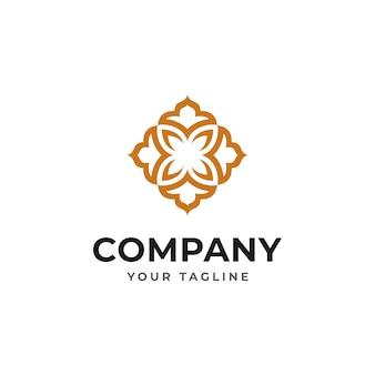 Conceito de design de logotipo de luxo elegante