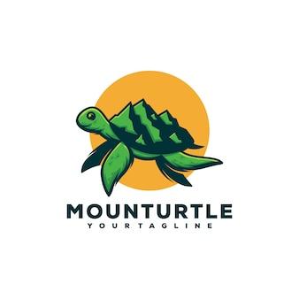 Conceito de design de logotipo de mounturtle.