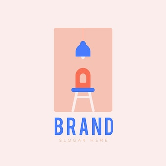 Conceito de design de logotipo de móveis