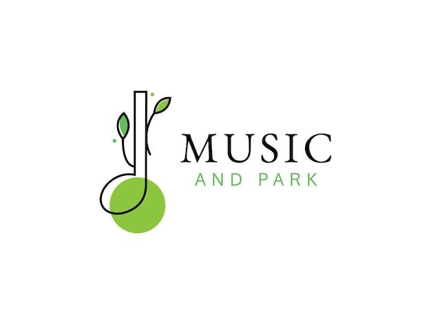 Conceito de design de logotipo de música no parque
